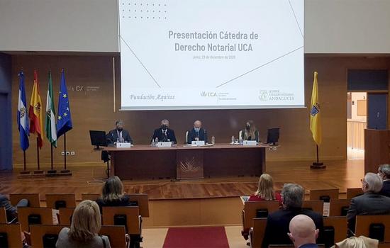IMG UCA, Colegio de Notarios de Andalucía y Fundación Æquitas presentan la Cátedra de Derecho Notarial en Jerez