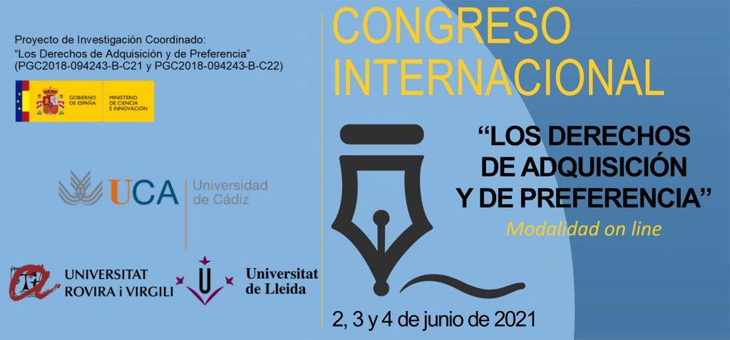 """Congreso Internacional """"Los Derechos de Adquisición y de Preferencia"""""""